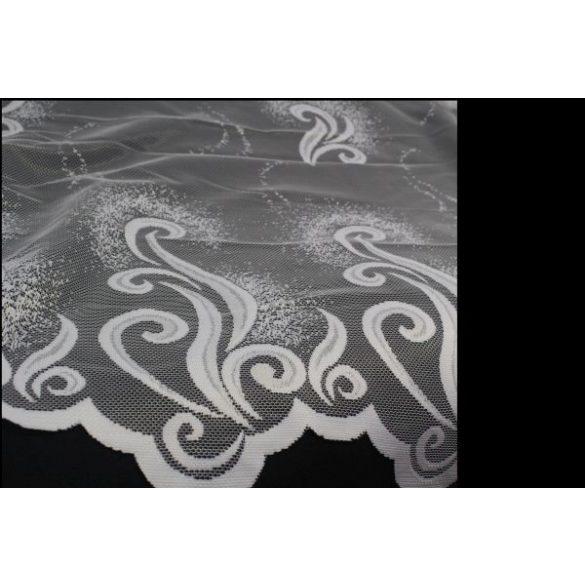 Íves mintás fehér csipkefüggöny, 180cm, 220cm magas