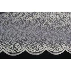 Íves teli mintás fehér csipkefüggöny, 180cm magas