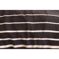 Fekete-fehér csíkos pamut voile anyag