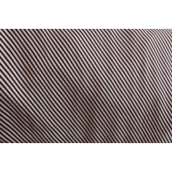 Fekete-fehér ferde csíkos pamut voile anyag