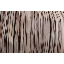 Fekete fehér csíkos pamut voile anyag