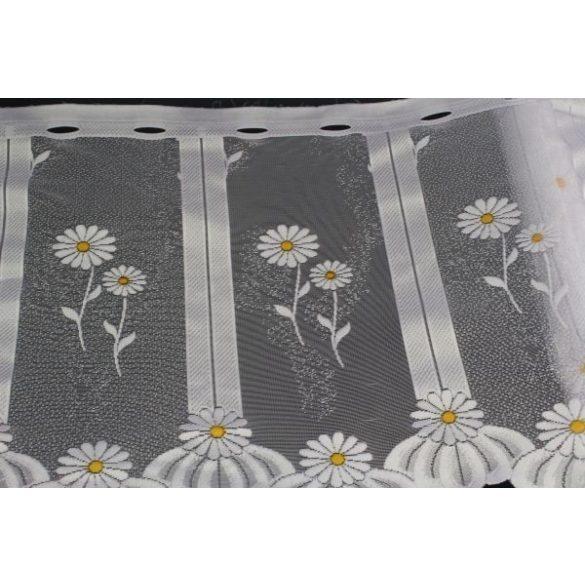 Margarétás vitrázsfüggöny, szegést nem igényel, 45cm, 60cm magas