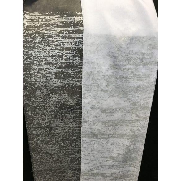 Ezüst-fehér fényáteresztő függöny, 300cm magas, fehér színben kapható