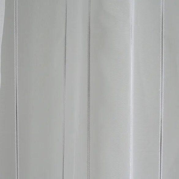 Fehér alapon színes vonalkás függöny, két színben rendelhető, 180cm, 30cm magas
