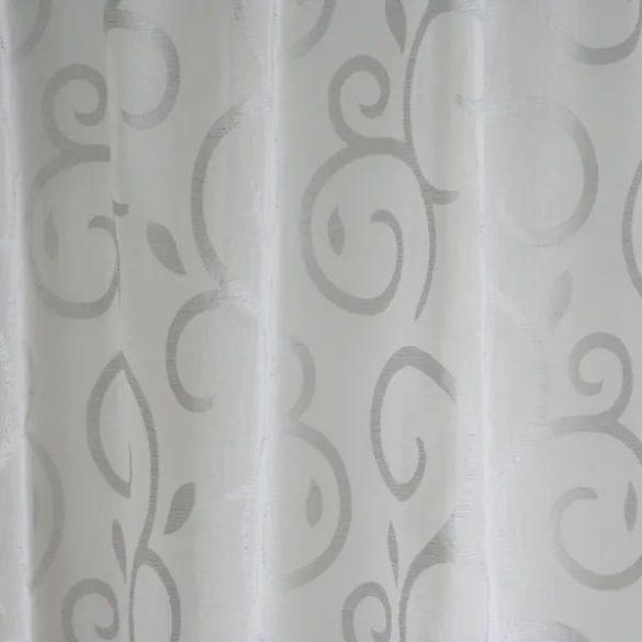 Gyűrt indamintás függöny, 290cm magas, fehér és ekrü színben rendelhető