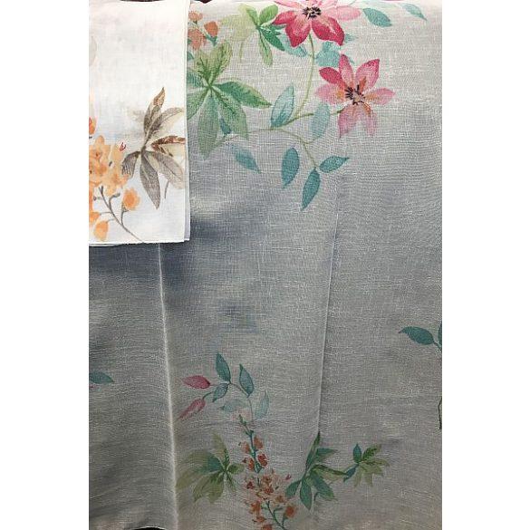 Élénk virágos batiszt függöny, 290cm magas, két színben rendelhető