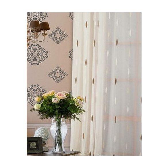 Tört fehér alapon levél mintás függöny, 180cm, 300cm magas, két színben rendelhető